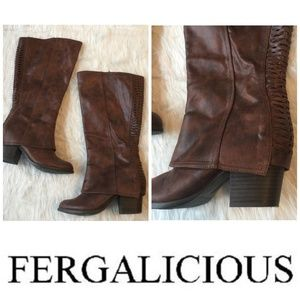 Fergalicious by Fergie Lundry Knee High Brown Boot
